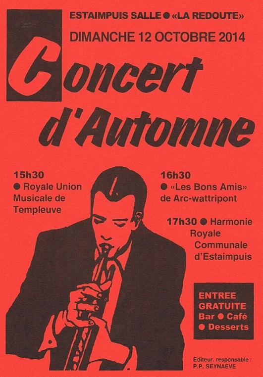 Affiche Concert d'Automne Estaimpuis